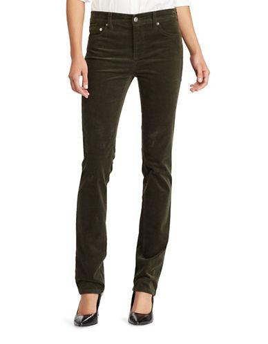 Lauren Ralph Lauren Premier Straight Corduroy Jeans-GREEN-16