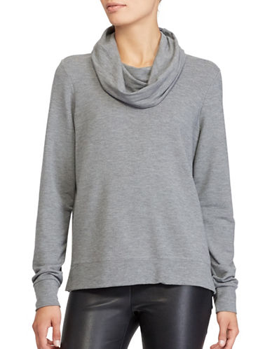 Lauren Ralph Lauren French Terry Funnel neck Top-GREY-X-Large 89608770_GREY_X-Large