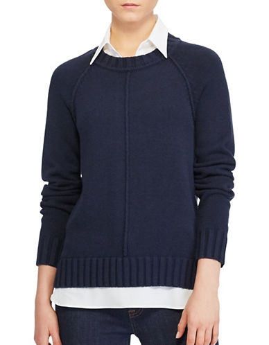 Lauren Ralph Lauren Layered Sweater-BLUE-X-Large
