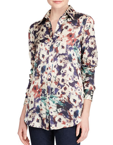 Lauren Ralph Lauren Floral-Print Button-Down Shirt-MULTI-X-Small