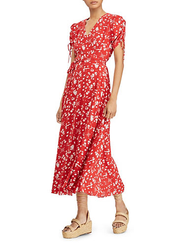 Printed Crepe Wrap Dress by Polo Ralph Lauren