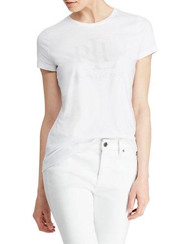 Lauren Ralph Lauren Graphic Logo Tee-WHITE-Medium