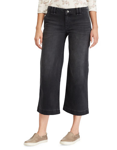 Chaps Wide-Leg Stretch Capri Jeans-BLACK-14