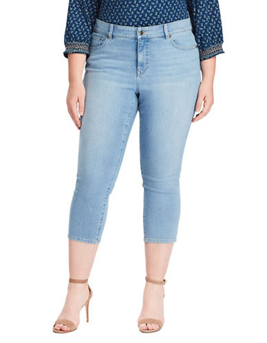 Chaps Plus Slimming-Fit Stretch Capri Jeans 89835893