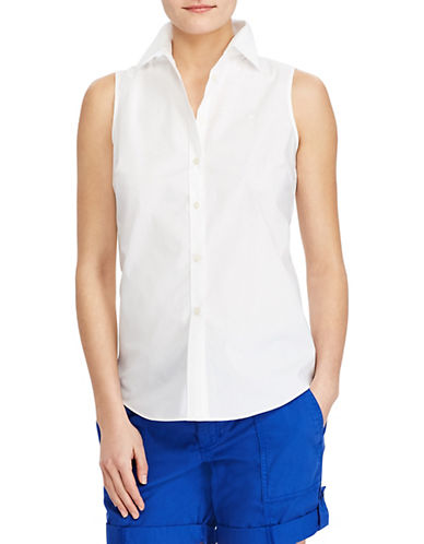 Lauren Ralph Lauren Stretch Sleeveless Shirt 90107382
