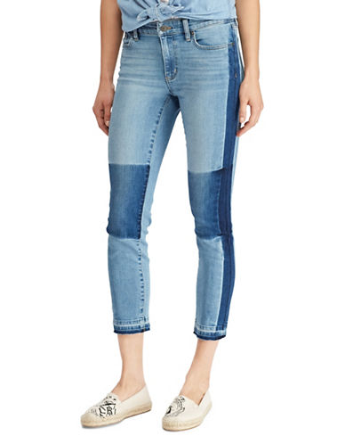 Lauren Ralph Lauren Premier Straight Patch Crop Jeans-LIGHT BLUE-8