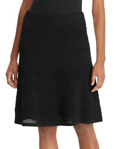 Lauren Ralph Lauren 2-in-1 Textured A-Line Skirt and Slip-POLO BLACK-Medium 89949682_POLO BLACK_Medium