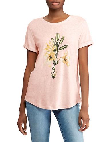 Lauren Ralph Lauren Floral Graphic Tee-PINK-X-Large 89956193_PINK_X-Large