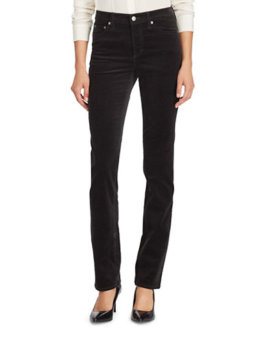 Lauren Ralph Lauren Premier Straight Curvy Corduroy Jeans-GREY-10
