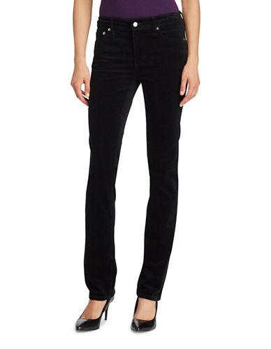 Lauren Ralph Lauren Petite Premier Straight Corduroy Jeans-BLACK-Petite 14