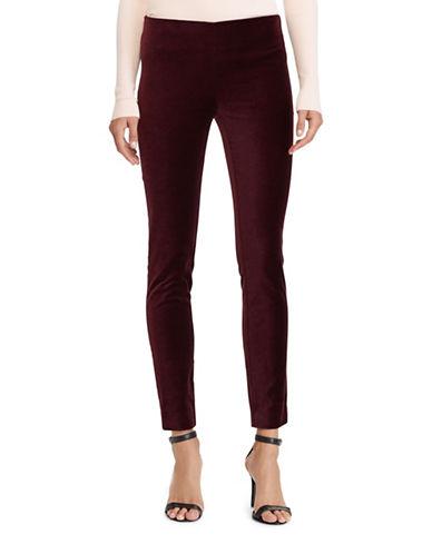 Lauren Ralph Lauren Petite Stretch Corduroy Skinny Pants-RED-Petite 6