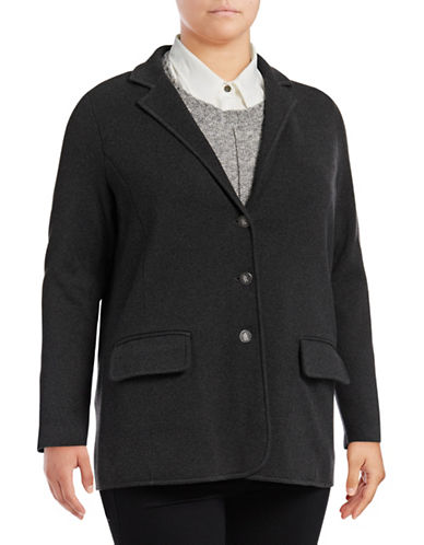 Lauren Ralph Lauren Plus Ayelee Jacket-GREY-3X