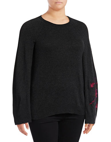 Lauren Ralph Lauren Plus Mavinia Sweater-GREY-1X