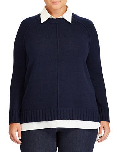 Lauren Ralph Lauren Plus Gristin Long-Sleeve Sweater-RED-1X
