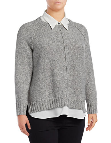 Lauren Ralph Lauren Plus Gristin Long-Sleeve Sweater-GREY-2X
