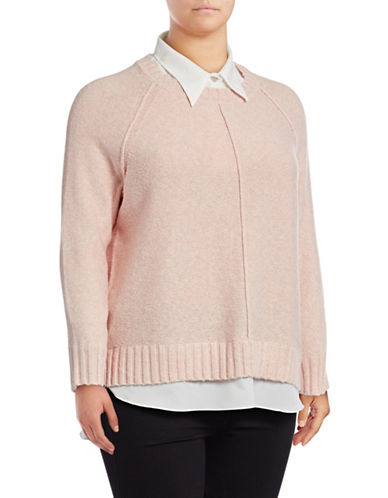 Lauren Ralph Lauren Plus Gristin Long-Sleeve Sweater-PINK-3X