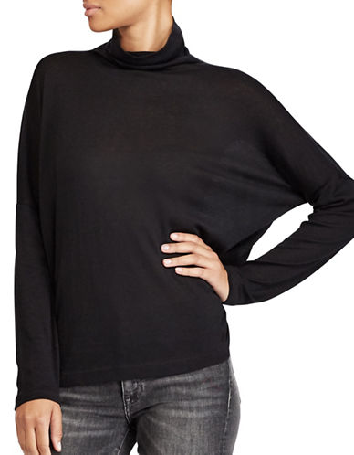 Polo Ralph Lauren Boxy Jersey Turtleneck Sweatshirt-POLO BLACK-Small