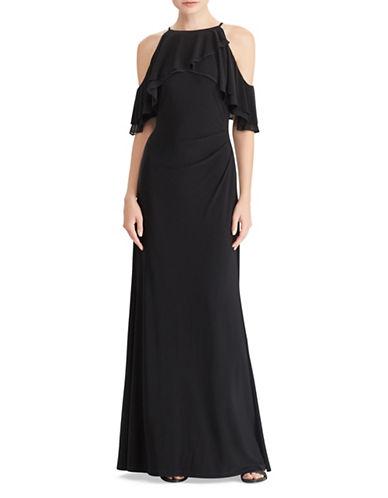 Lauren Ralph Lauren Overlay Jersey Gown-BLACK-2