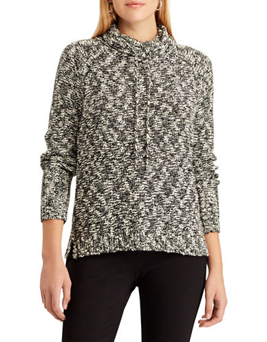 Chaps Marled Funnel Neck Sweater-BLACK-Small 89697468_BLACK_Small