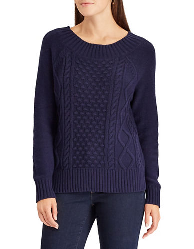 Chaps Cable Knit Sweater-BLUE-X-Large