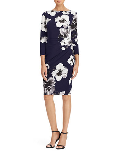 Lauren Ralph Lauren Floral Three-Quarter Sheath Dress-MULTI-2