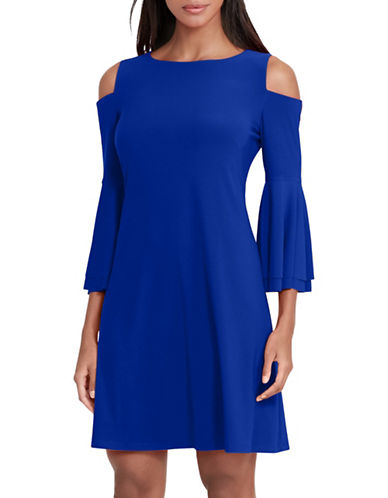 Lauren Ralph Lauren Cold Shoulder Dress-BLUE-14