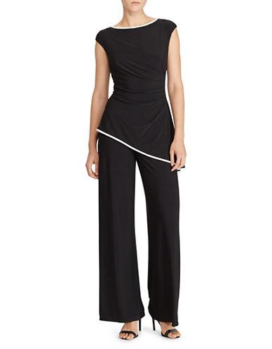 Lauren Ralph Lauren Boatneck Peplum Jersey Jumpsuit-BLACK-8