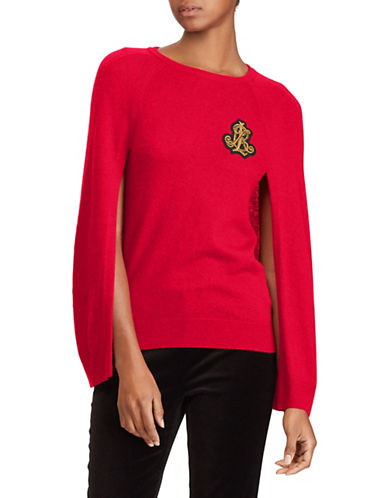 Lauren Ralph Lauren Open Sleeve Sweater-RED-X-Large