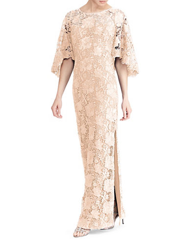 Lauren Ralph Lauren Metallic Floral Lace Gown 89926456