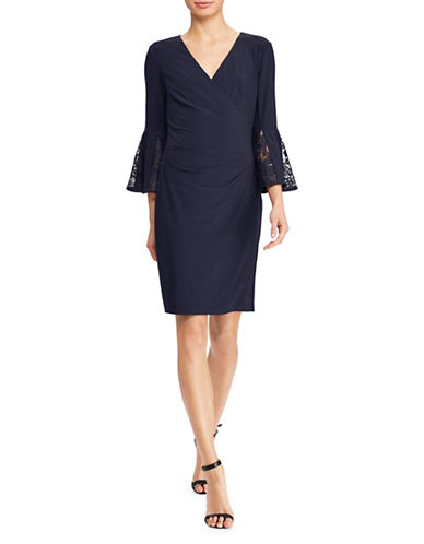Lauren Ralph Lauren Jersey Bell-Sleeve Dress-NAVY-12