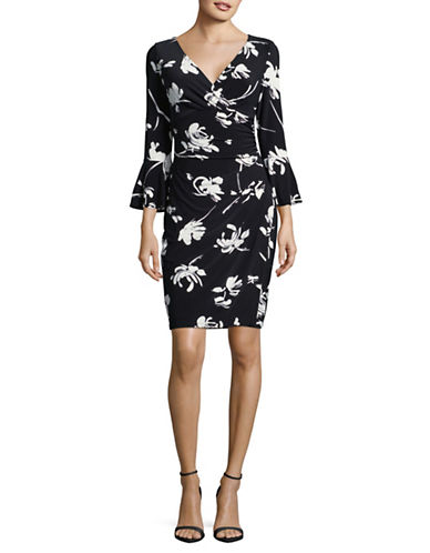 Lauren Ralph Lauren Floral-Print Shift Dress-BLACK-16