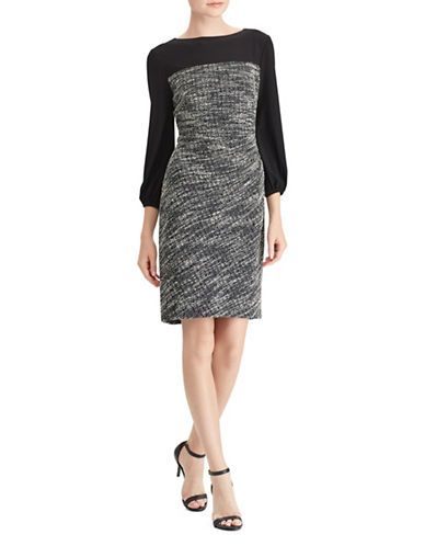 Lauren Ralph Lauren Jersey Day Dress-BLACK-16