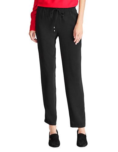 Lauren Ralph Lauren Skinny Drawstring Pants-BLACK-10