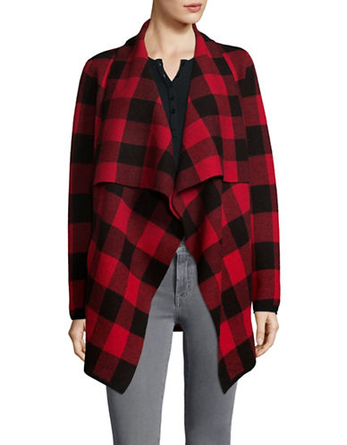 Lauren Ralph Lauren Wool Open Front Cardigan-BLACK-X-Large 89716640_BLACK_X-Large