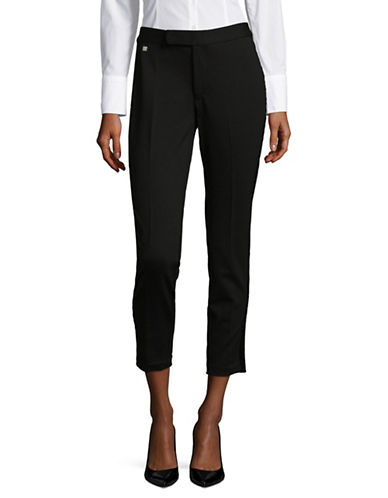Lauren Ralph Lauren Skinny-Fit Cropped Pants-BLACK-X-Large