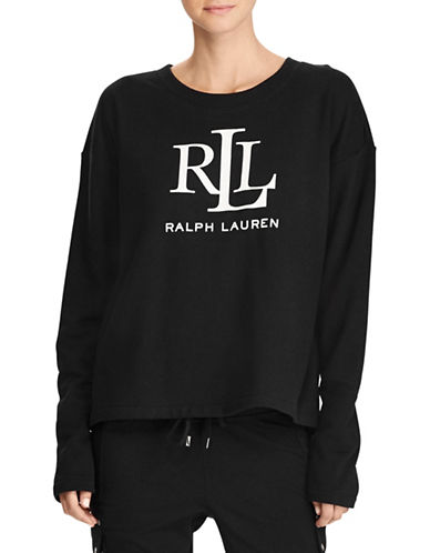 Lauren Ralph Lauren Logo Sweatshirt-BLACK-Medium