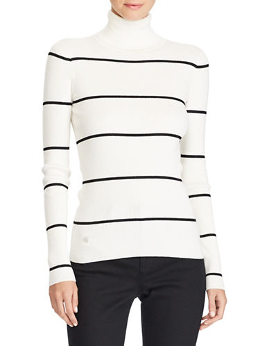 Lauren Ralph Lauren Stretch Cotton Turtleneck Sweater-NATURAL-Medium 89649736_NATURAL_Medium