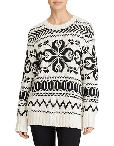 Lauren Ralph Lauren Cotton Graphic Sweater-NATURAL-X-Large