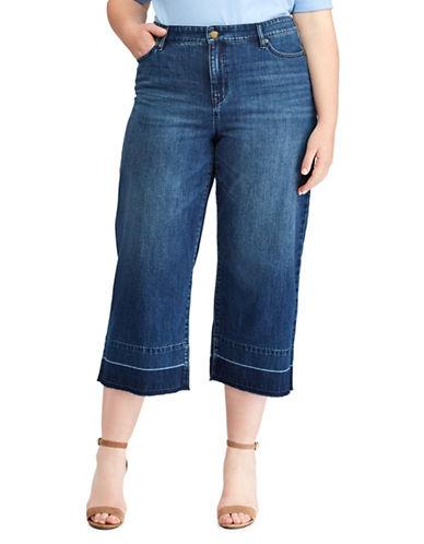 Lauren Ralph Lauren Plus Cropped Flare Jeans-BLUE-18W