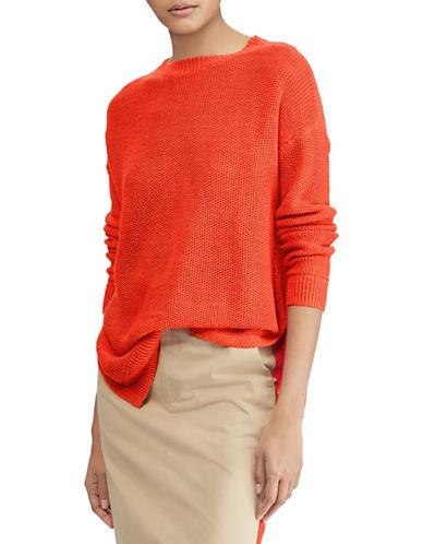 Polo Ralph Lauren Linen Crew Neck Sweater-RED-Medium 89939455_RED_Medium