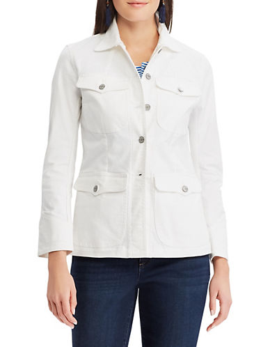 Chaps Cotton-Blend Denim Jacket-WHITE-X-Large 90096575_WHITE_X-Large