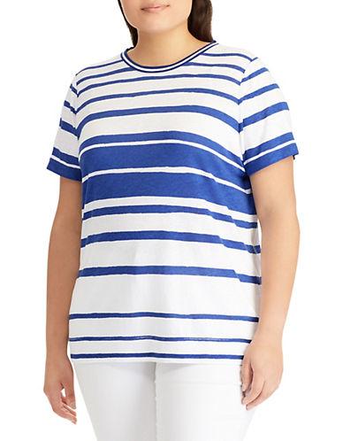 Lauren Ralph Lauren Plus Plus Striped Jersey Top 90109084