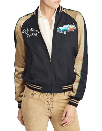 Polo Ralph Lauren Hawaii Satin Bomber Jacket-BLACK-Small 89939400_BLACK_Small