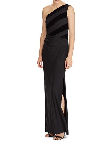 Lauren Ralph Lauren Velvet-Jersey Gown-BLACK-16