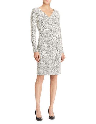 Lauren Ralph Lauren Long-Sleeve Sheath Dress-WHITE-18