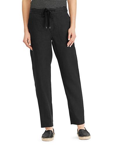 Lauren Ralph Lauren Straight Linen Pants 90107452
