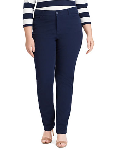 Chaps Plus Four-Way-Stretch Pants-NAVY-20W
