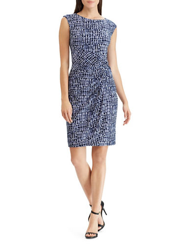 Chaps Weathership Knot Dress-NAVY-Small