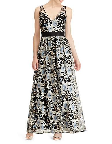 Lauren Ralph Lauren Floral-Embroidered Fit-and-Flare Gown 90031854