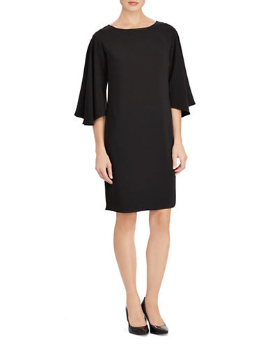 Lauren Ralph Lauren Bell-Sleeve Shift Dress-BLACK-8